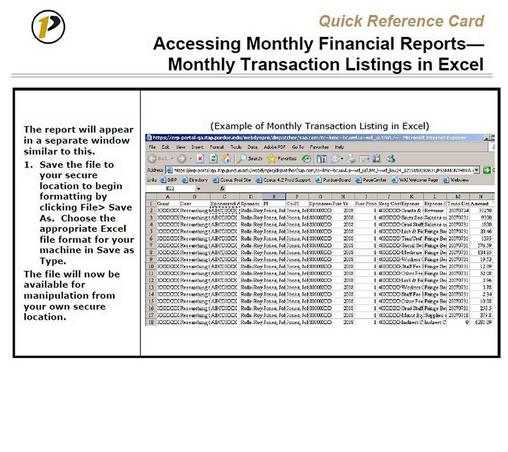 Access Monthly Report Template sample