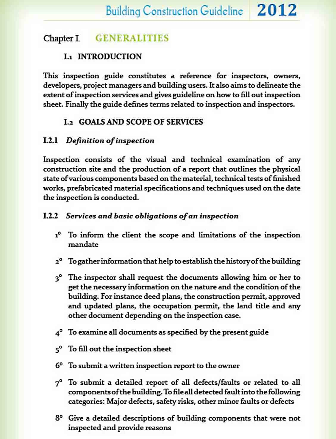 BUILDING INSPECTION GUIDELINE Tools5 sample