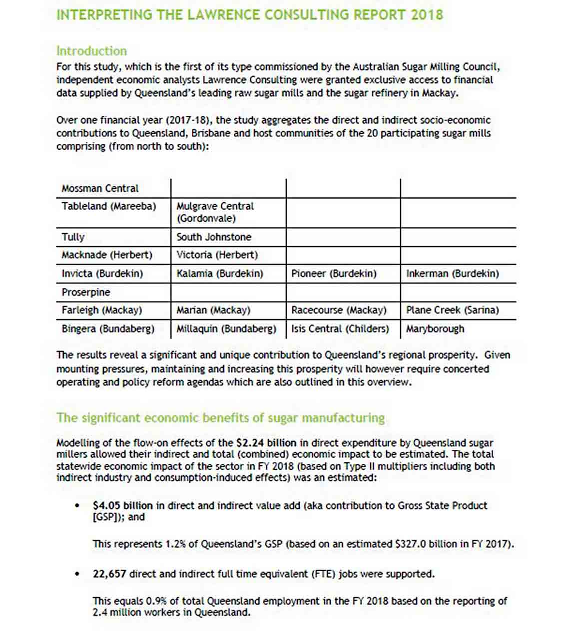 Consulting Report Example sample