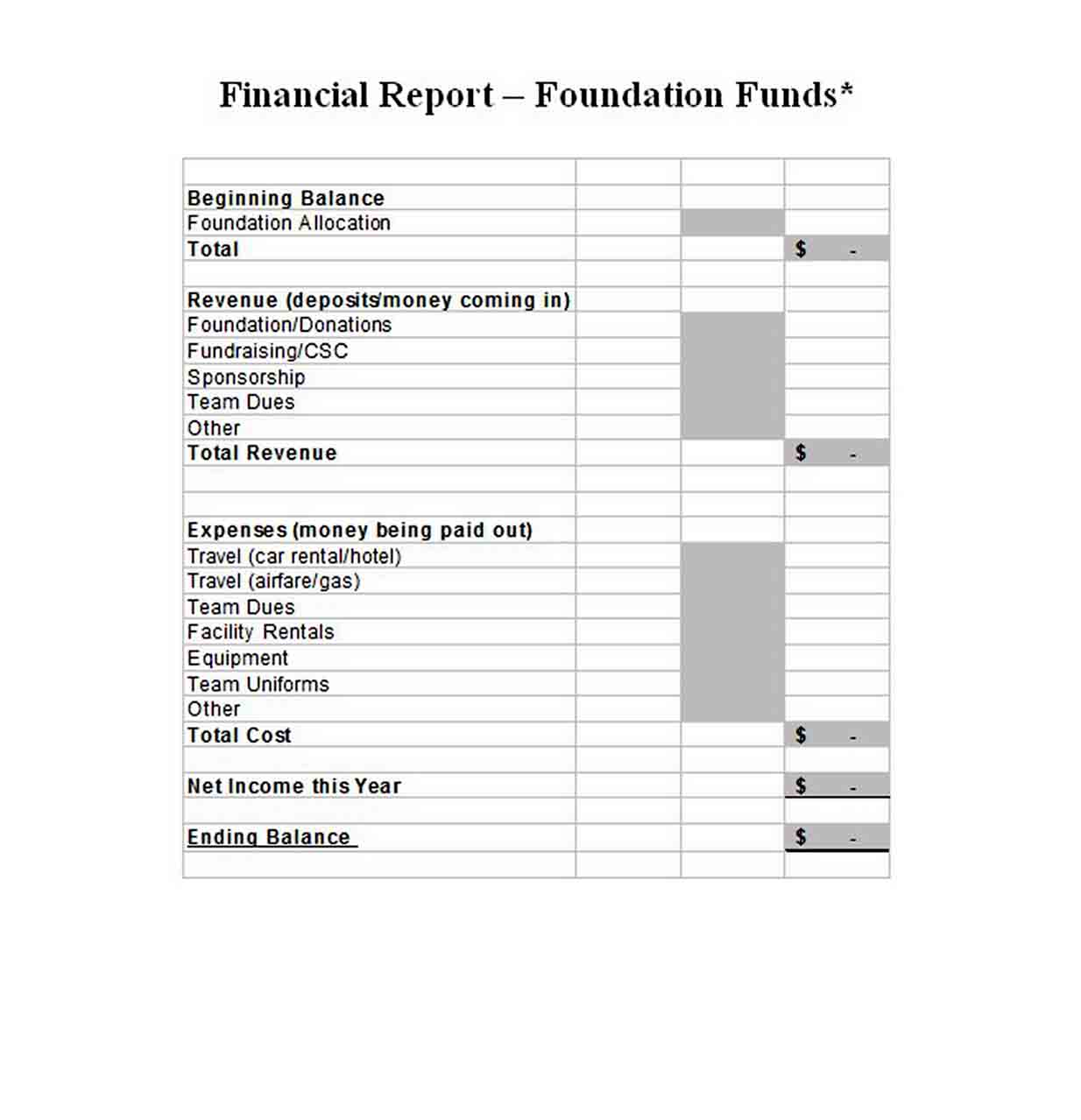 Download End of Year Report Template sample