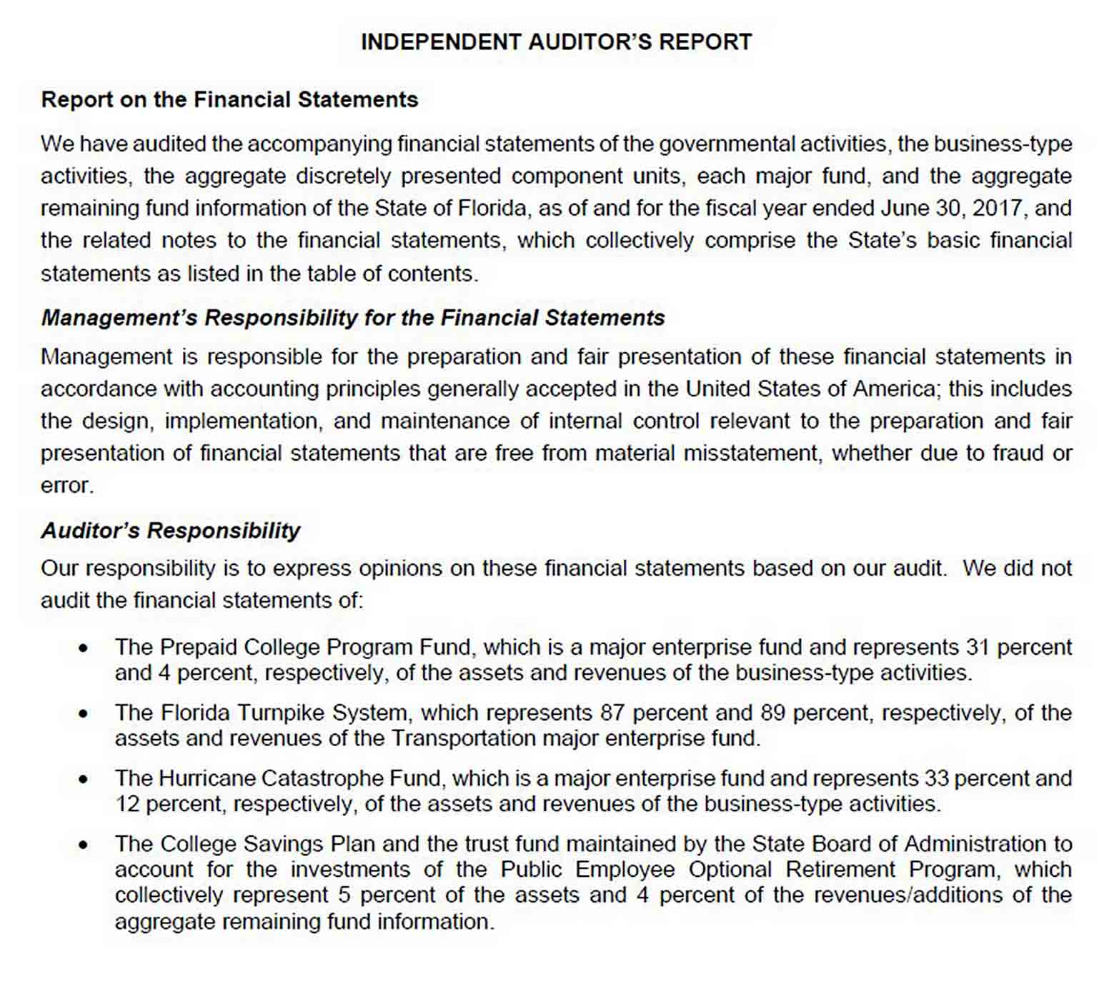 Fiscal Year Comprehensive Annual Financial Reort Template sample