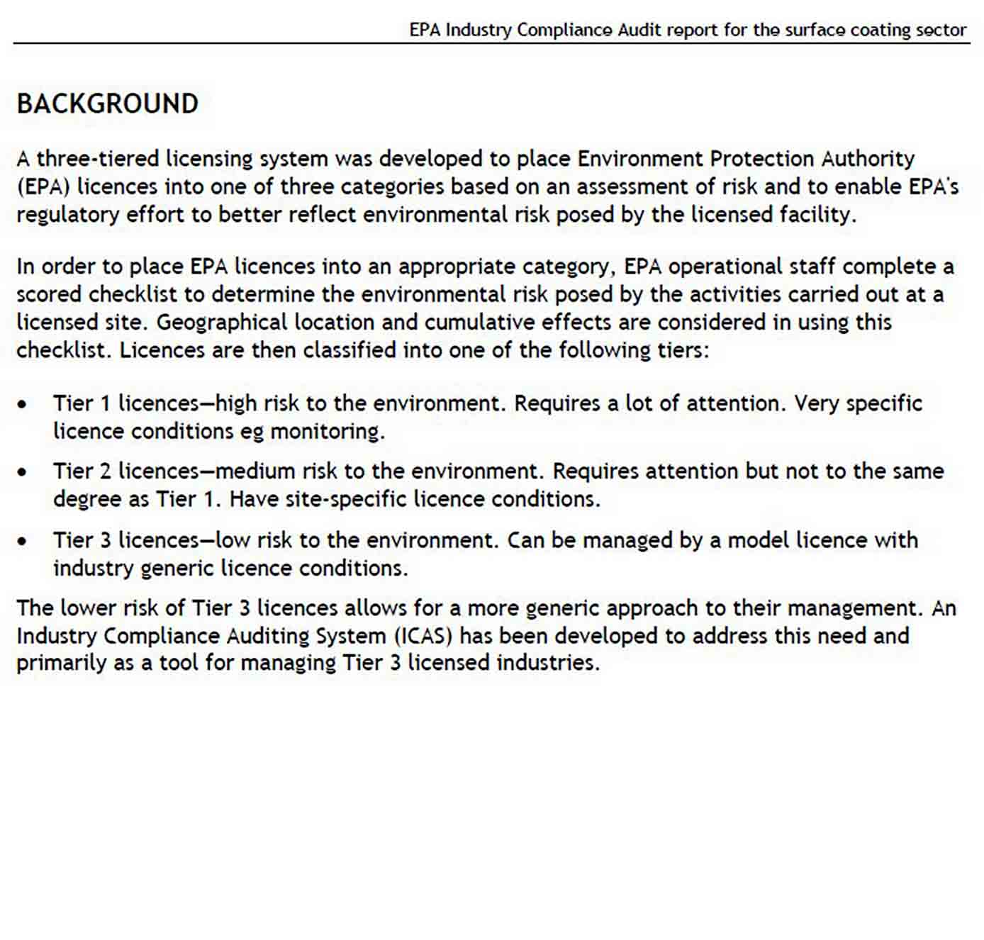 Industry Compliance Audit Report sample