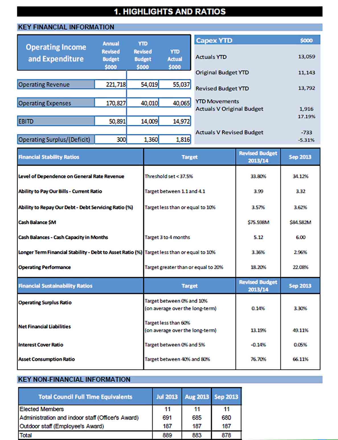 Monthly Financial Performance Report sample