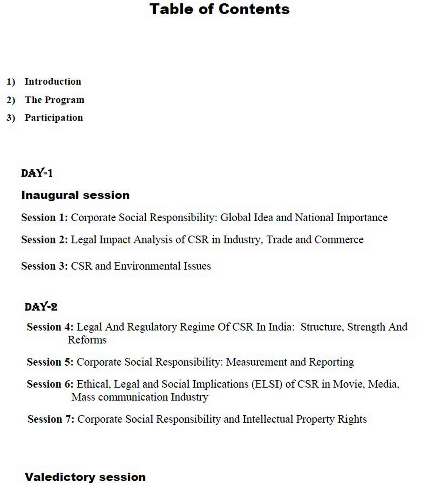Printable Conference Report sample