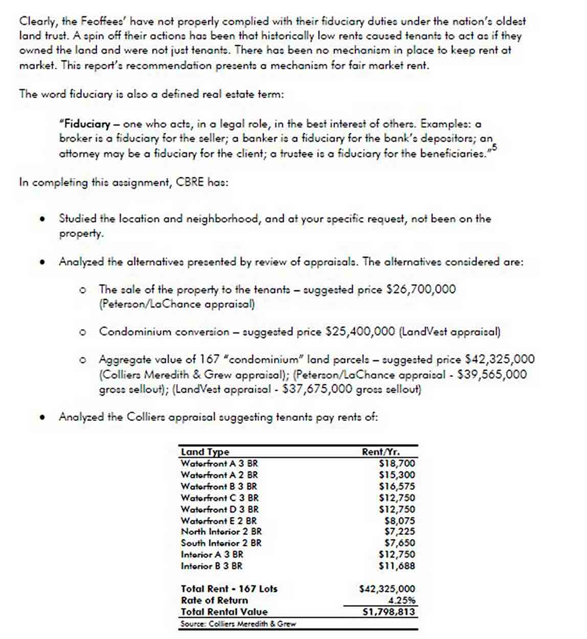 Real Estate Consulting Report Example sample