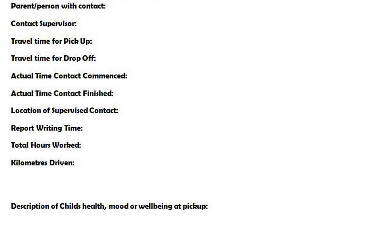 Contact Report Template