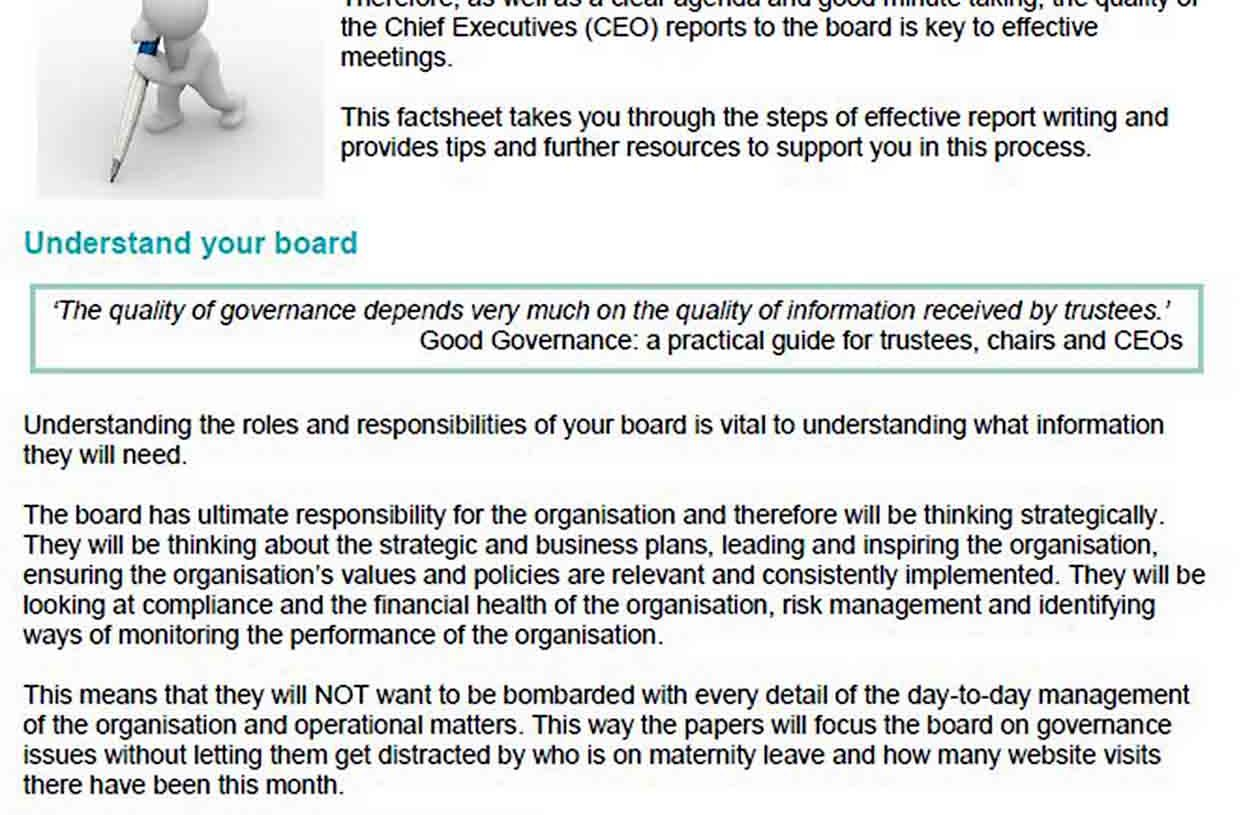 CEO Report Templates