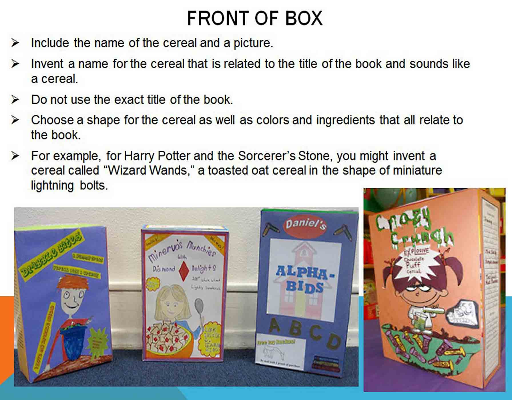 cereal box book report template 1
