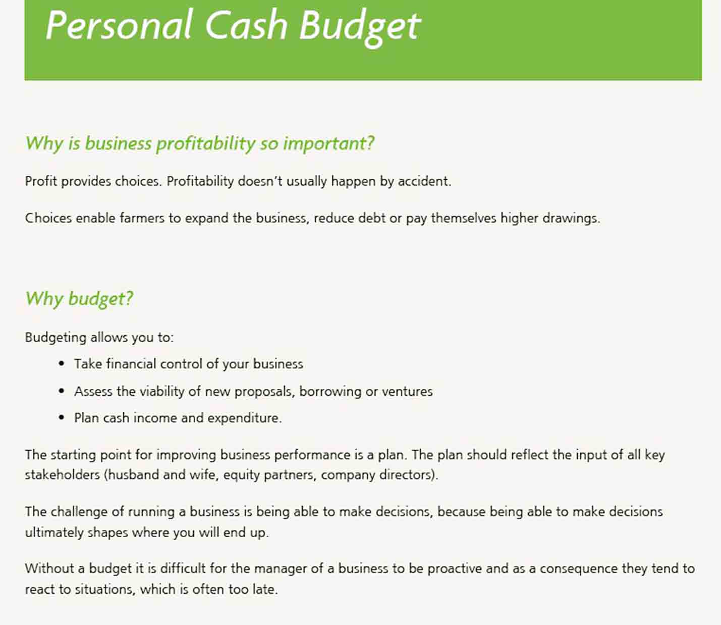 Personal Expense Report Example sample