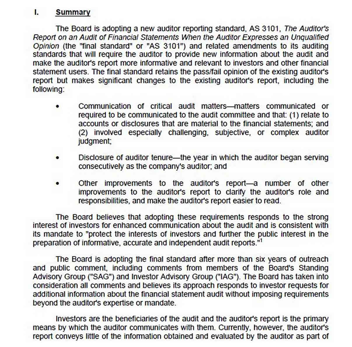 Summary of Financial Audit Report Template sample